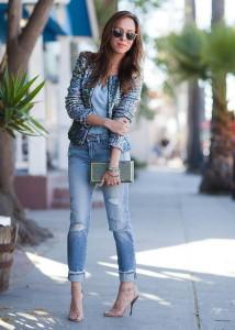 С чем носить узкие джинсы фото