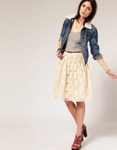 кружевная юбка фото