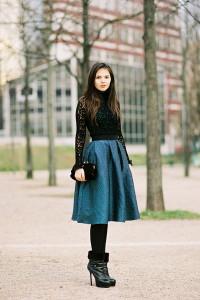 С чем носить юбку миди фото