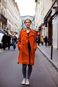 с чем носить рыжее пальто