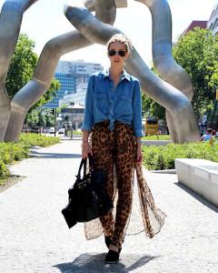 с чем носить юбку леопардовой расцветкой
