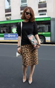 С чем носить юбку с леопардовым принтом