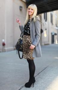 юбка с леопардовой расцветкой фото