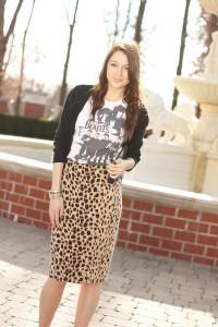 юбка с леопардовой расцветкой