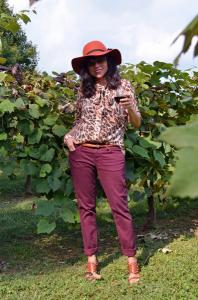 с чем носить блузку с леопардовым принтом
