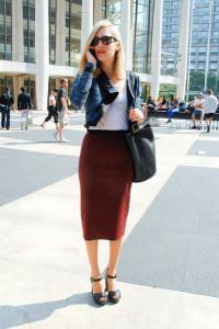 узкая юбка фото