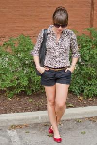 леопардовая блузка