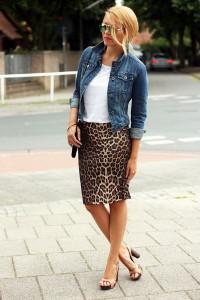 юбка с леопардовым принтом фото