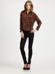 с чем носить блузку с леопардовым принтом  фото