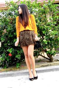 леопардовая юбка фото