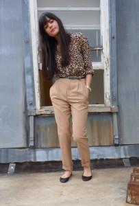 Блузка с леопардовый принтом