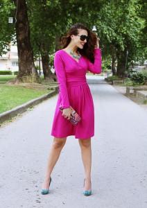 платье фуксия фото
