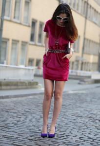 с чем носить платье фуксия фото