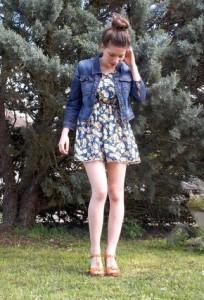 с чем носить платье в цветы фото