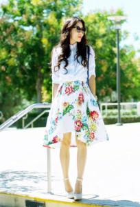платье в цветы фото