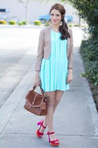 мятное платье фото