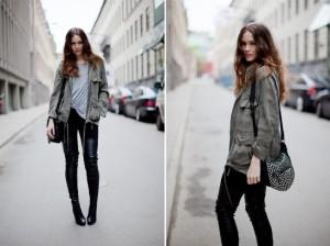 одежда в стиле милитари женская