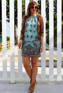 платье бирюзового цвета
