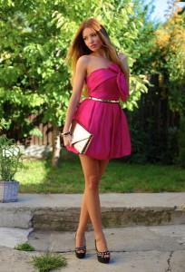 с чем носить платье цвета фуксии фото