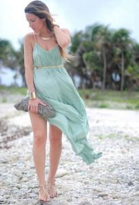 С чем носить платье мятного цвета фото