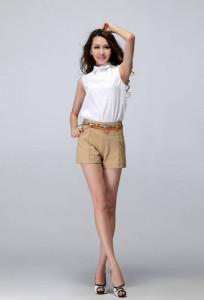 джинсовые шорты с высокой талией фото