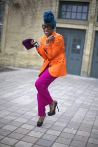 оранжевый блейзер