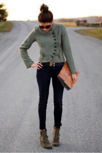с чем носить сапоги зеленого цвета