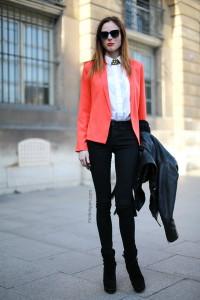с чем носить оранжевый блейзер фото