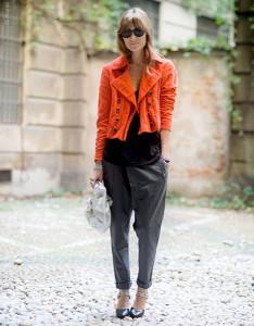 оранжевый блейзер фото