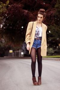короткие шорты с завышенной талией фото