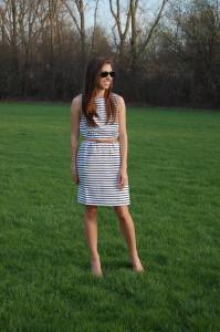 платье тельняшка длинное