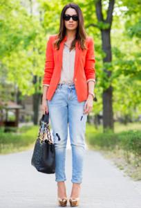 пиджак оранжевого цвета