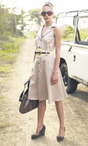 С чем носить платье сафари фото