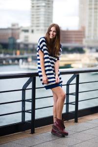 платье-тельняшка фото