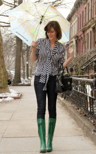 С чем носить зеленые сапоги