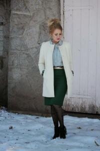 как носить пальто без воротника