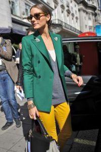 сочетание желтого и зеленого