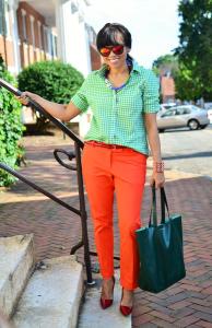 зеленая клетчатая рубашка