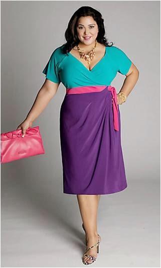 Платье на полную фигуру женщины