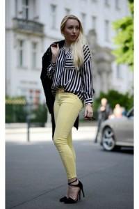 С чем носить брюки светло-зеленого цвета фото