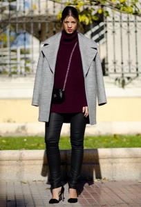 пальто кокон с чем носить фото