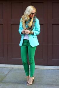 сочетание зеленого цвета