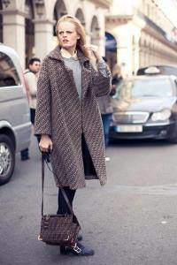 пальто кокон с чем носить