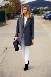 С чем носить пальто оверсайз фото