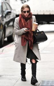 какой шарф носить с пальто