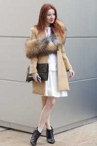 Как носить снуд с пальто
