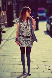 с чем носить платье с леопардовым принтом фото