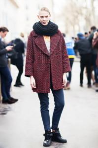 Как носить снуд с пальто фото