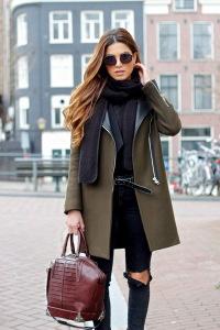 Как носить шарф с пальто фото
