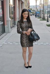 С чем носить леопардовое платье фото